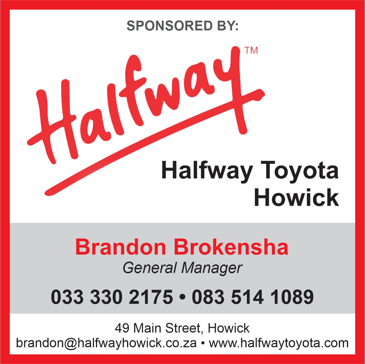 And an encouraging resumption of KZN10.com website and social media, as school sport returns - albeit without spectators - and Halfway Howick Toyota puts its support into assisting in keeping me alive. I urge you to joing Brandon Brokensha and his dealership in backing me financially. I cannot do this alone. Contact me at joncookroy@gmail.com